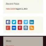 My Social Icons Widget - WordPress Plugin